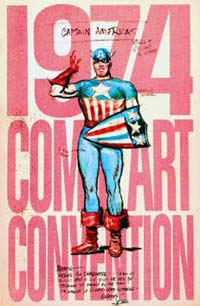 1974 Comic Art Convention book - Joe Simon 1941 Captain America pitch sketch